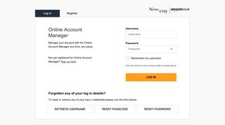 Login - Online Account Manager | Amazon