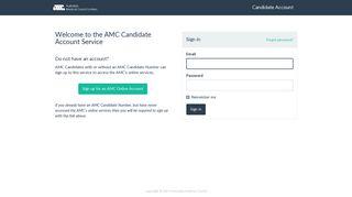 AMC Account: Sign in
