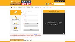 Motilal Oswal AMC – Online MF & PMS   Login & Registration
