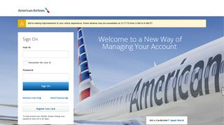 American Airlines Credit Card: Sign On
