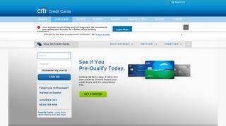 Credit Card Offers & Account Login – Citi.com