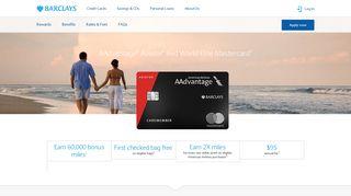 AAdvantage® Aviator® Red World Elite Mastercard® | Barclays US