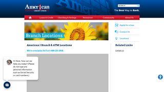 American 1 CU Locations - American 1 Credit Union Locations ...