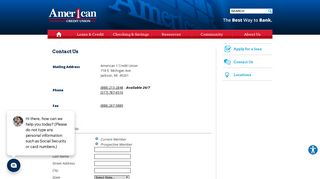 Contact Us - American 1 Credit Union