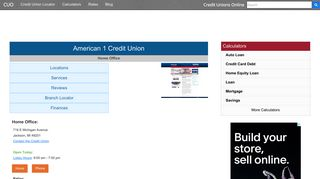 American 1 Credit Union - Jackson, MI