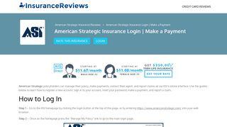 American Strategic Insurance Login | Make a Payment