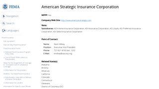 American Strategic Insurance Corporation | FEMA.gov