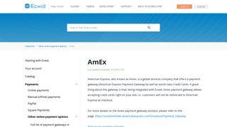 AmEx – Ecwid Help Center - Ecwid support