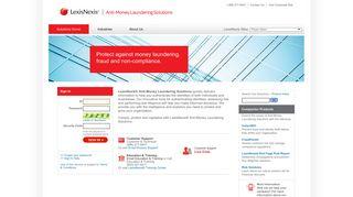 LexisNexis® Anti-Money Laundering Solutions - Sign In
