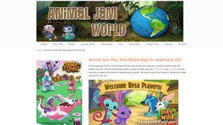 Animal Jam Play Wild Mobile App for Android & iOS - Animal Jam World