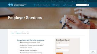Employer Login | Blue Cross and Blue Shield of North Carolina