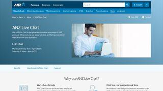 ANZ Live Chat | ANZ