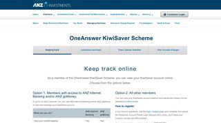 Managing KiwiSaver - ANZ Investments