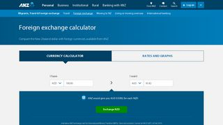 Foreign exchange calculator   FX rates for NZD   ANZ