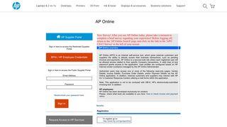 HP Supplier Portal - AP Online - HP.com