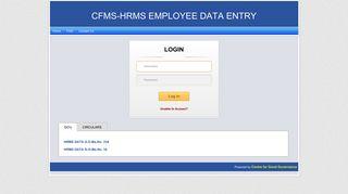 CFMS LOGIN