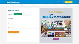 Login - Time4Learning