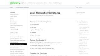 Login-Registration Sample App - What is Appery.io?