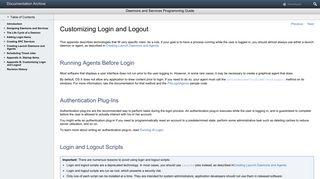 Customizing Login and Logout - Apple Developer