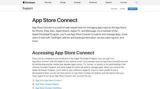 App Store Connect - Support - Apple Developer