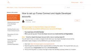 How to set up iTunes Connect and Apple Developer accounts ...