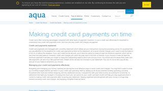Credit Card Payments - aqua