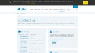 Contact us - aqua