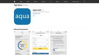 aqua card on the App Store - iTunes - Apple