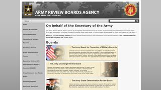 Army Review Boards Agency: The United States Army
