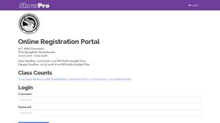 Online Registration Portal | Login