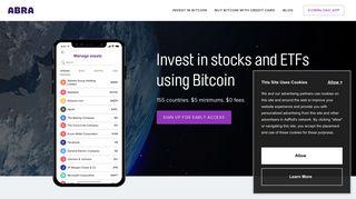 Abra: Mobile Bitcoin Wallet App - BTC & Cryptocurrency Wallet App