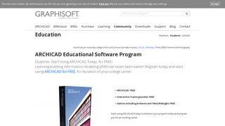 ARCHICAD Educational Software Program - Graphisoft