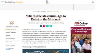 What Is The Maximum Age to Enlist in the Military?