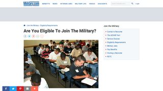 Are You Eligible To Join The Military? | Military.com