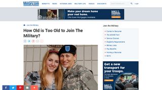 How Old is Too Old to Join The Military? | Military.com
