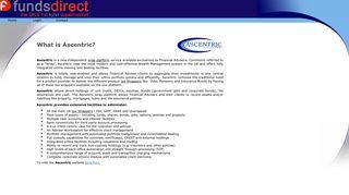 Ascentric Financial Adviser Wrap Platform - FundsDirect