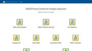 ASSISTments APP for Google Classroom