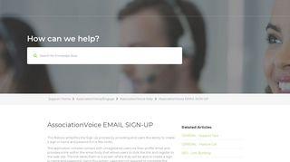 AssociationVoice EMAIL SIGN-UP - frontsteps