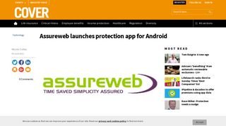Assureweb launches protection app for Android   COVER
