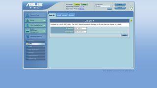 ASUS Wireless Router RT-N56U - LAN IP