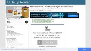 How to Login to the Asus RT-N56U Padavan - SetupRouter