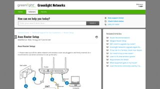 Asus Router Setup : Greenlight Networks