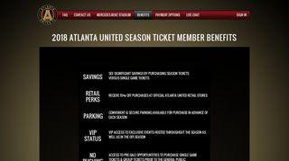 2018 ATLANTA UNITED SEASON TICKET MEMBER BENEFITS ...