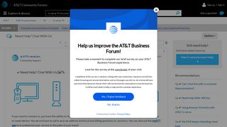 Solved: Need Help? Chat With Us - AT&T Community