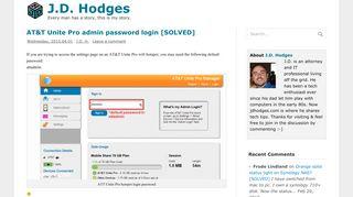 AT&T Unite Pro admin password login [SOLVED] - JD Hodges