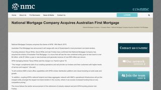 National Mortgage Company Acquires Australian First Mortgage ...