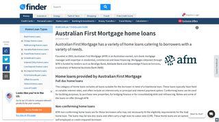 Australian First Mortgage Home Loans Comparison | finder.com.au