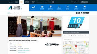 Australian Fitness Network - Fitness CEC Courses