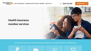 Health Insurance member services - Australian Unity