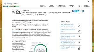 Enterprise Fleet Management Enhancing ... - Enterprise Holdings
